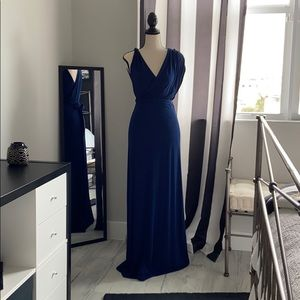 Dark Blue Grecian Maternity Dress, Sz 2
